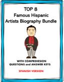 Spanish Biography Bundle: Top 8 Famous Hispanic Artists at 40% off!
