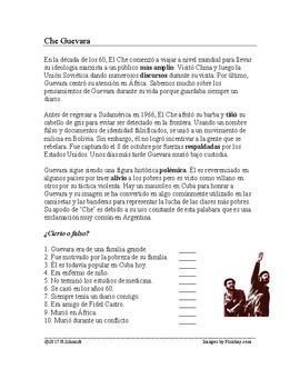 Spanish Biography Bundle: Revolutionaries (Castro, Che Guevara, Pancho Villa)