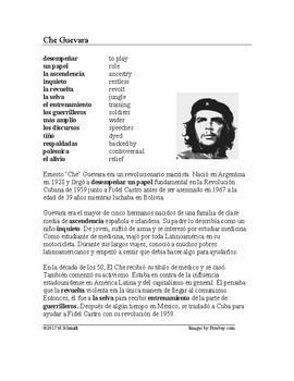 Spanish Biography Bundle: 4 Revolutionaries (Castro, Che Guevara, Pancho Villa)