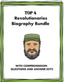 Spanish Biography Bundle: Top 4 Revolutionaries (Castro, Pinochet, Guevara)
