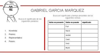 Spanish Biography Character Gabriel Garcia Marquez