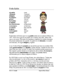 Spanish Biography - Biografía de Frida Kahlo + Video Link