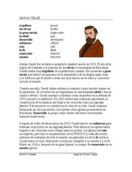 Antonio Gaudi Biography - Lectura de Antonio Gaudí y La sagrada familia