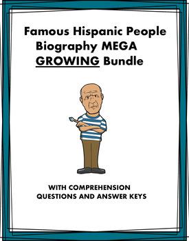 Spanish Biography MEGA Bundle: 72+ Biografías @50% off! (GROWING BUNDLE)