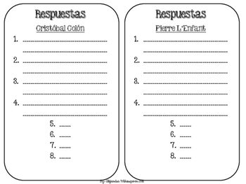 Spanish Biography Task Cards-BIOGRAFIAS