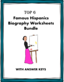Spanish Biography Worksheets: 5 Famous Hispanics @30% off!