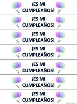 Spanish Birthday Brag Tag Bracelets 5 Designs - Mi Cumpleaños
