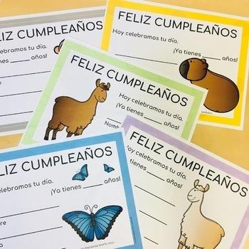 Spanish Birthday Certificates
