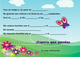 Spanish Birthday invite 3 of 6-Writable PDF & Printable