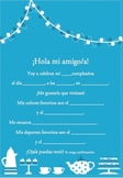 Spanish Birthday invite 4 of 6-Writable PDF & Printable