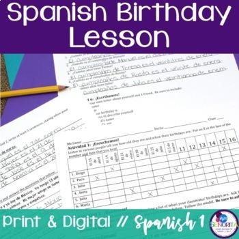 spanish birthday cumpleaños lesson by miss senorita tpt
