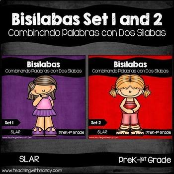 Spanish: Bisilabas Set 1 and 2 (Bundled)