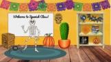 Spanish Bit Emoji Virtual Classroom - Google Slides - {October}