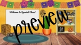 Spanish Bit Emoji Virtual Classroom Template - PNG - {October}