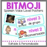 Spanish Bitmoji Voice Level Posters