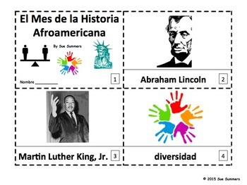 Spanish Black History Month - 2 Emergent Reader Booklets