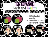 Spanish Black and Brights Schedule Cards