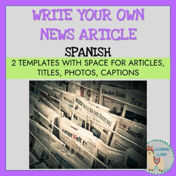 spanish blank newspaper templates by llearning llama tpt
