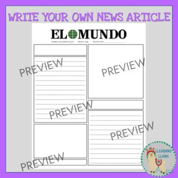 Spanish Blank Newspaper Templates