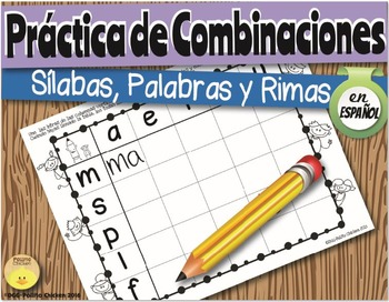 Spanish Blending Practice Sheets. Hojas para practicar mezcla de sonidos/sílabas