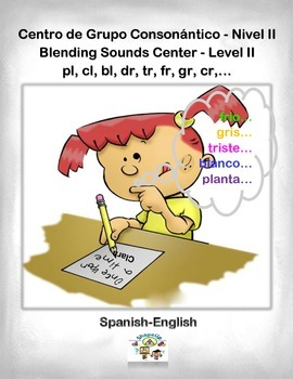 Spanish Blending Sounds - II / Grupos Consonanticos - II in a Station / Ctr.Act.