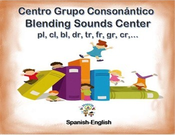 Spanish Blending Sounds in a Station / Center Activity