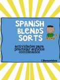 Spanish Blends Sorting Activities