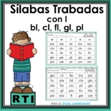Spanish Blends Syllables with L RTI Activities