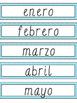 Spanish Blue Chevron Birthday Board