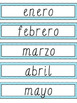 Spanish Blue Chevron Birthday Board