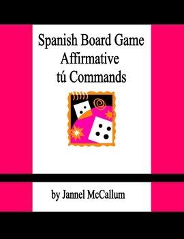 Spanish Board Game - Affirmative Tú Commands