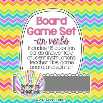 Spanish Board Game Set - ar verbs