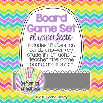 Spanish Board Game Set - imperfect tense