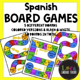 Spanish Board Games (Boards/Game Pieces/Question Sheet TEMPLATE!)