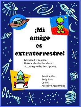 Spanish Body Part Practice - Mi Amigo es Extraterrestre! My Friend is an Alien!