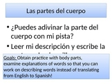 Spanish Body Parts - Descriptions - Descubre 2, Lección 1
