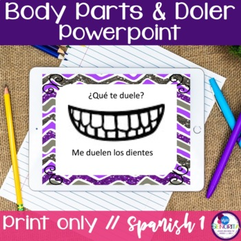Spanish Body Parts & Doler Powerpoint