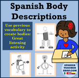 Spanish Body Parts Drawing for Listening
