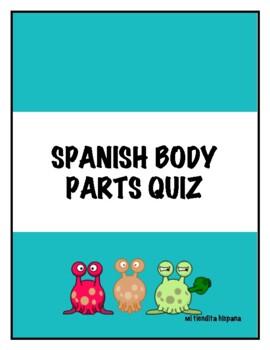 """Spanish Body Parts """"El Cuerpo"""" QUIZ"""
