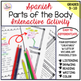 Spanish Distance Learning LAS PARTES DEL CUERPO Parts-of-the-Body