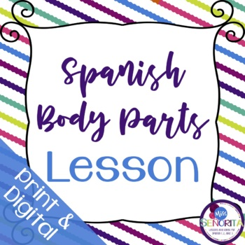 Spanish Body Parts Lesson