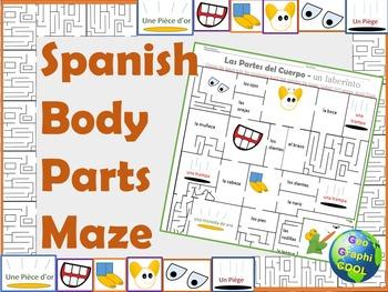 Spanish Body Parts Maze