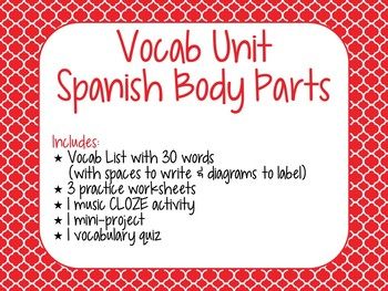 Spanish Body Parts Mini-Unit