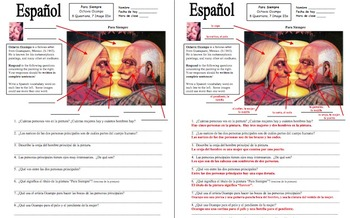 Spanish Body Parts Ocampo Painting 8 Questions and 7 Image IDs