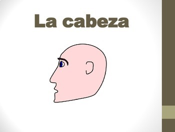 Spanish Body Parts PICTURE Notes Powerpoint