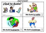 Spanish Body Parts 2 Emergent Reader Booklets ¿Qué Te Duele? Me Duele...