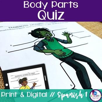 Spanish Body Parts Quiz