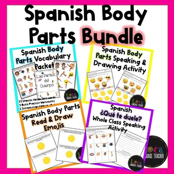 Spanish Body Parts Vocabulary and Activity Bundle