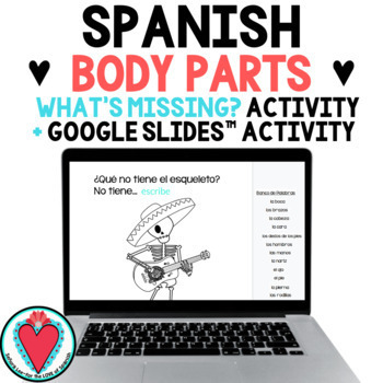 Spanish Body Parts - What's Missing?