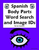 Spanish Body Parts Word Search Puzzle (30 Words) and 14 Image IDs - Cuerpo